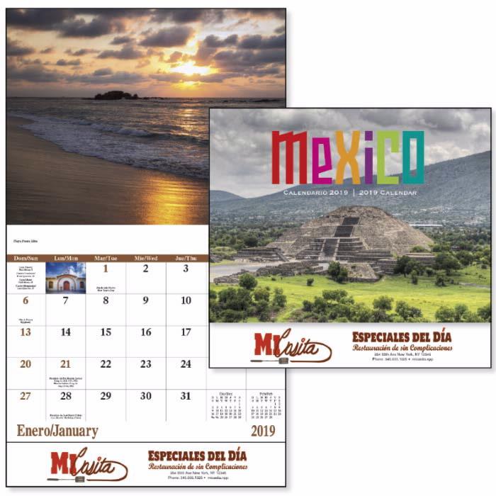 13 month mexico wall calendar c7287