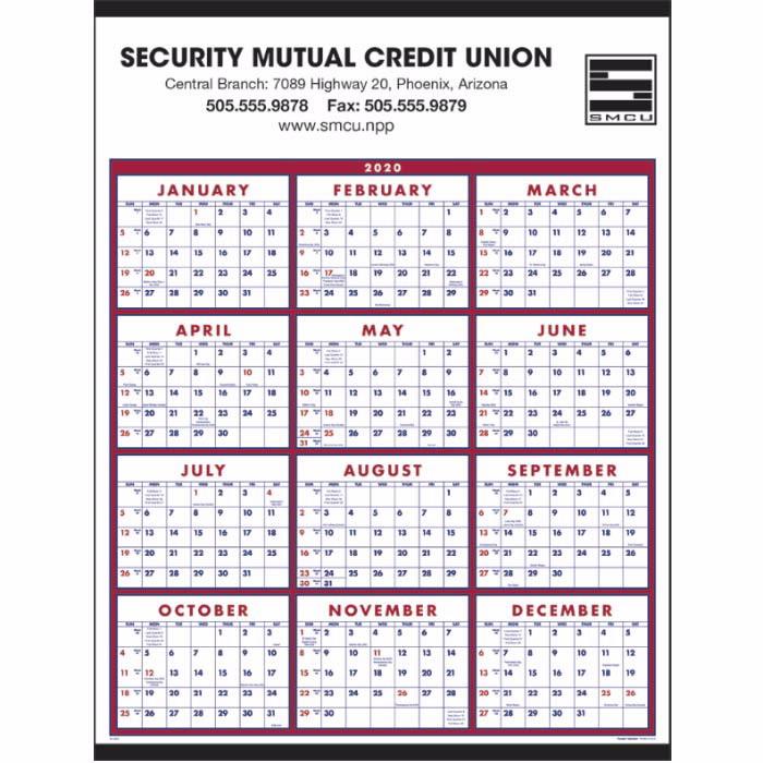 Span-a-Year Wall Calendar - C6203