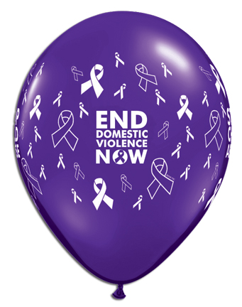 Stock Awareness Balloons For Domestic Violence Awareness
